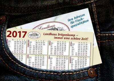 Kalender im Visitenkartenformat