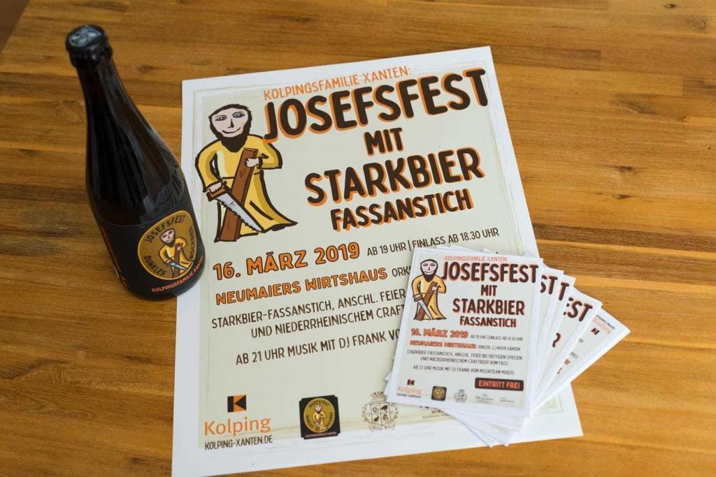 Kolpingsfamilie Xanten: Josefsfest mit Starkbier-Fassanstich