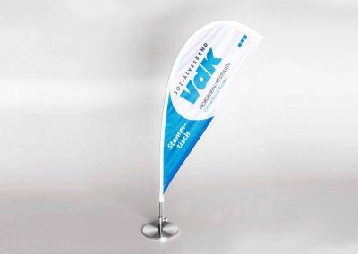 Beachflag Mini für den Stammtisch des VdK