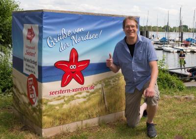 Selfie-Wand an der Xantener Nordsee