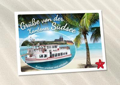 Postkarte Fahrgastschiff Seestern