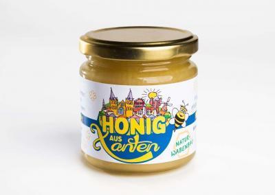 Gestaltung eines Honigetiketts