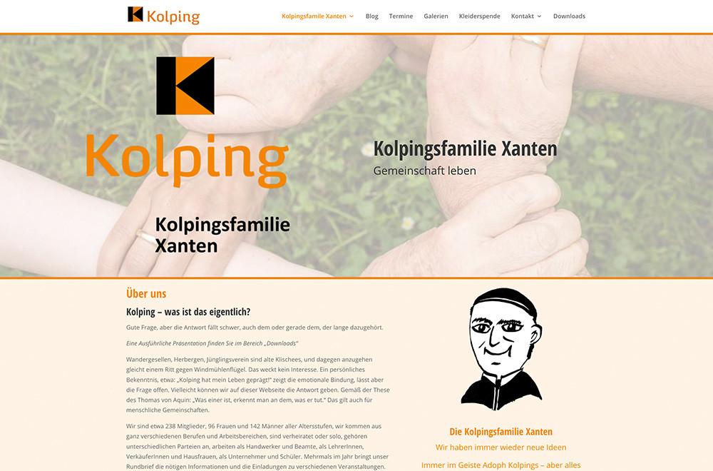 Neue Website der Kolpingsfamilie Xanten